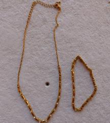 Avon aranyozott nyaklánc-karkötő szett
