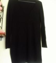 Fekete elasztikus pulcsiruha