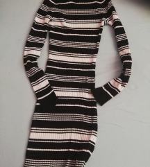 Csíkos bodycon ruha