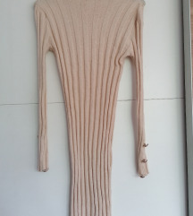 Barna bordázott pulcsi