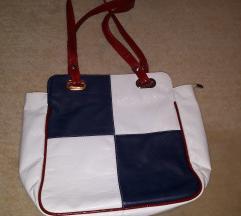 fehér sötétkék női táska
