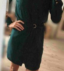 H&M mélyzöld ruha