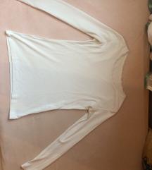 Fehér, hosszú ujjú póló