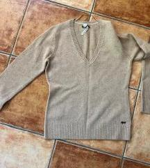 Esprit bézs világosbarna pulcsi, pulóver
