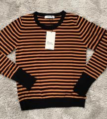 Zara knit csíkos pulóver M Új címkés
