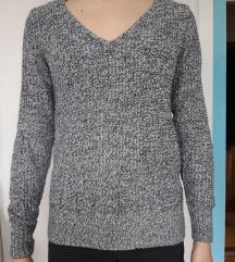 Tally Weijl fekete-fehér cirmos pulóver, M-es
