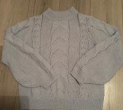 H&M kötött kék pulóver