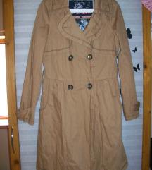 Női világos barna ballon hosszú kabát 38