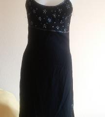 Fekete gyöngyös indiai pántos ruha, S/M-es