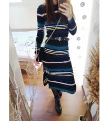 H&M csíkos midi ruha