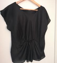 Fekete selyem oversized