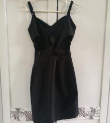 Bershka kis fekete cut out ruha S