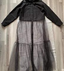 Zara hosszú fekete ing