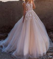 Hofeher/Kremszinu menyasszonyi ruha vadonat uj