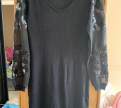 Fekete női hosszú ujjú ruha