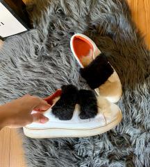 zara szőrmés sportcipő