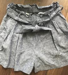 Zara kék paperbag short