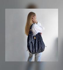 Louis Vuitton denim shopper táska válltáska