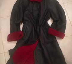 Piros bőr kabát