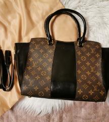 Louis Vuitton valódi bőr fekete barna táska