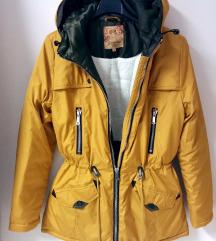 EXTRA meleg mustársárga kabát -Ingyen posta-