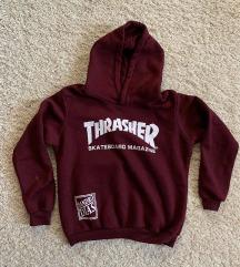 bordó thrasher hoodie pulóver