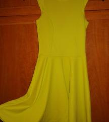 Lime színű skater ruha XS-S