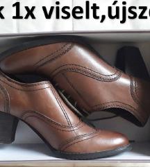 Női bőrcipő, 39-es, ÚJSZERŰ