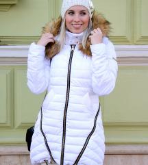 Amnesia fehér téli kabát