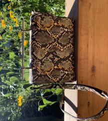 Kígyóbőr-mintás Reserved táska