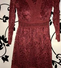 csipkés burgundi ruha - új- szalagavató