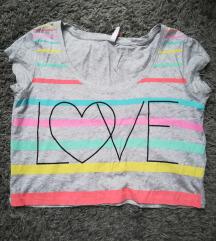 Rövid nyári színes póló - haspóló