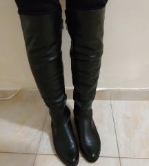 Fekete overknee csizma