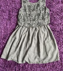 Atmosphere ezüst szürke csillogó nyári ruha 36 S