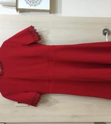 Orsay Új  piros csipkés ruha 36