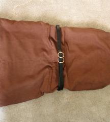 Esmara bársony tapintású barna ruha