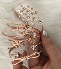 Ezüst és Rose gold karkötők