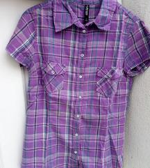 Újszerű! TAKKO lila kockás ing