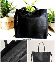 Címkés Mango Pakolós Fekete Shopper Bag