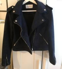 PROMOD hasítottbőr stílusú sötétkék dzseki