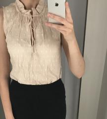 H&M bézs elegáns blúz