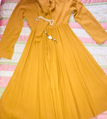 Mustár színű tunika