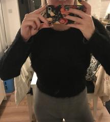 Fekete szőrös pulcsi