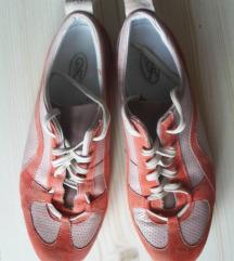 37-es rózsaszín-narancs bőrcipő, cipő, sportcipő