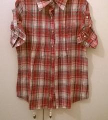 Piros kockás rövidujjú ing