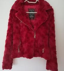 Bordó szőrmés kabát Mayo Chix