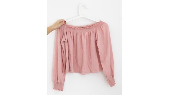 H&M púder rózsaszín blúz