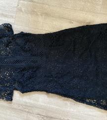 Zara fekete csipke miniruha