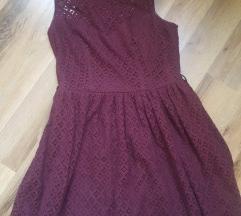 Eladó burgundi szinű csipkés ruha!
