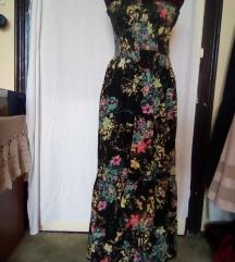 virágos pántnélküli ruha